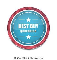 Best buy round vector icon