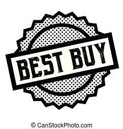 best buy stamp on white