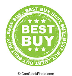 best buy stamp over white background. vector illustration
