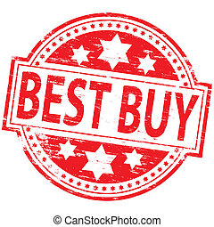 "Best Buy Stamp - Rubber stamp illustration showing ""BEST..."