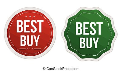 Best buy stickers set