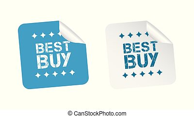 Best buy stickers. Vector illustration on white background.