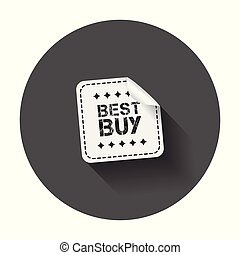 Best buy stickers. Vector illustration with long shadow.