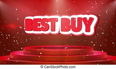 Best Buy Text Animation Stage Podium Confetti Loop Animation...