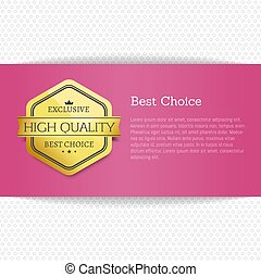 Best Choice Award Gold Offer Premium Quality Label