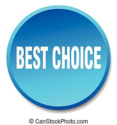 best choice blue round flat isolated push button