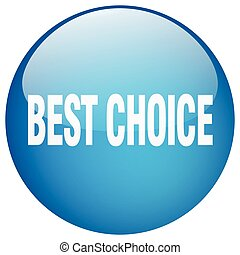best choice blue round gel isolated push button