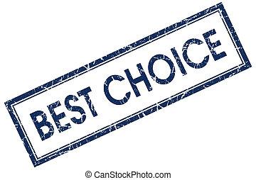 best choice blue square stamp