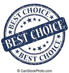 Best choice blue stamp