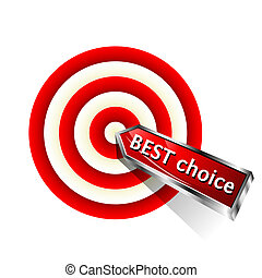 Best Choice. Concept business icon