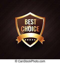 best choice golden label symbol design