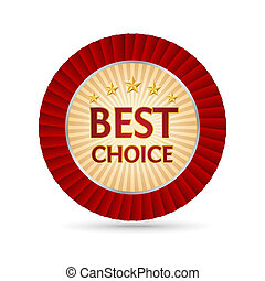 "Best choice golden label - Vector golden badge named ""Best..."