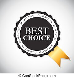 Best Choice Golden Label Vector Illustration