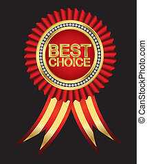 Best choice, golden label with diam