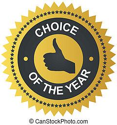 Best choice golden vector label