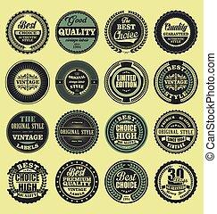 Best choice good quality vintage badges set.eps