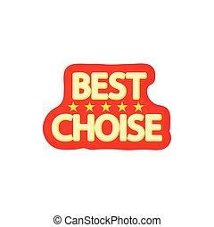 Best choice icon, cartoon style