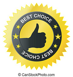 best choice label- black hand OK