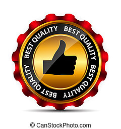 Best Choice Label with Red Ribbon.