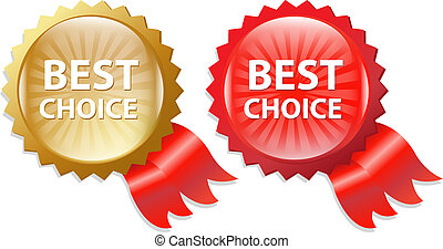 Best Choice Label With Ribbons