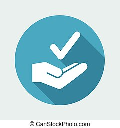 Best choice - Minimal vector icon