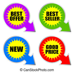 Best choice offer stickers