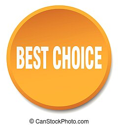best choice orange round flat isolated push button
