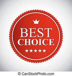 Best Choice Red  Label Vector Illustration