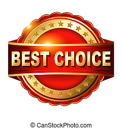 Best choice red label with
