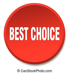 best choice red round flat isolated push button