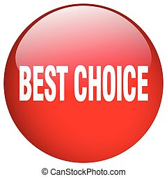 best choice red round gel isolated push button