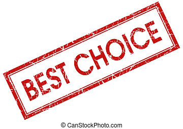 best choice red square stamp
