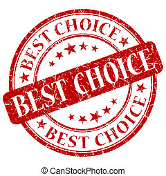 Best choice red stamp