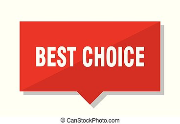 best choice red tag