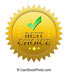 Best Choice seal - isolated on white background