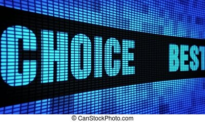 Best Choice Side Text Scrolling LED Wall Pannel Display Sign...