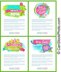 Best Choice Spring Sale Advertisement Tags Labels