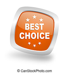 best choice square orange glossy chrome silver metallic web icon