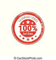 Best Choice Stamp Red Grunge Seal Isolated Sticker Icon