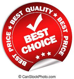 Best choice sticker