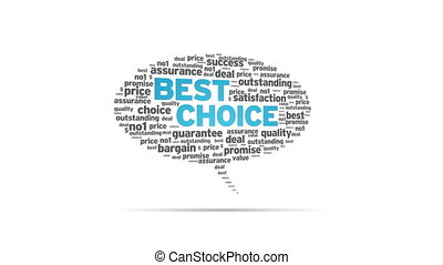 Best Choice - Spinning Best Choice Speech Bubble