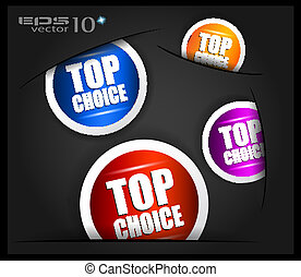 Best choice tag or stickers collection. Shapes comes out...