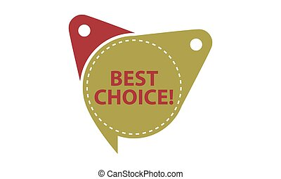 Best Choice Tag Template Isolated