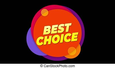 Best Choice Text Sticker Colorful Sale Popup Animation. -...