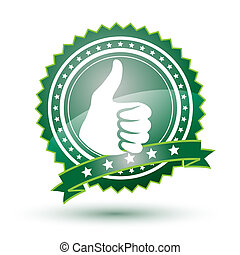 Best choice vector green badge