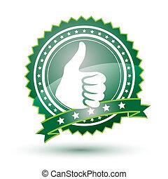 Best choice vector green badge