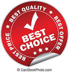 Vector best choice sticker over white