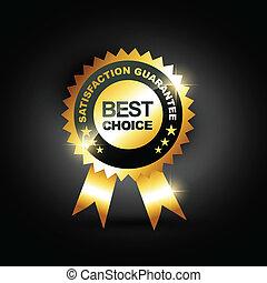 best choice vector - stylish blue best choice label sign