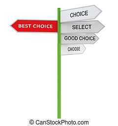 Best choice Waymark prompt. 3d concept illustration isolated...