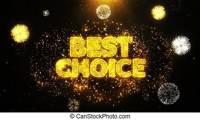 Best Choice Wishes Greetings card, Invitation, Celebration Firework Looped